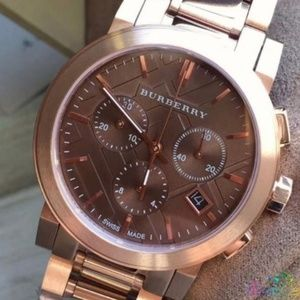 New Burberry Bu9754 City Gold-tone Unisex Watch